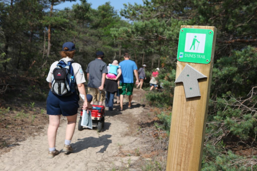 Sandbanks Provincial Park dunes trail full closed
