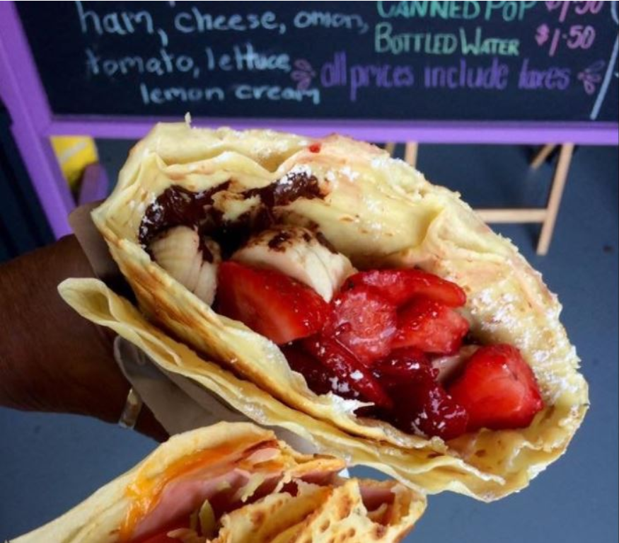 crepe fruit vegetarian vegan dessert